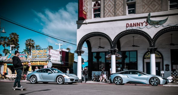 Old meets new: BMW i8 vs Porsche 991