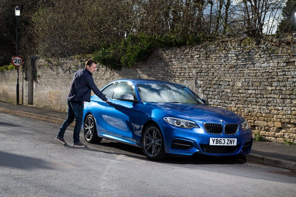 CAR magazine's BMW M235i and its keeper, Chris Chilton