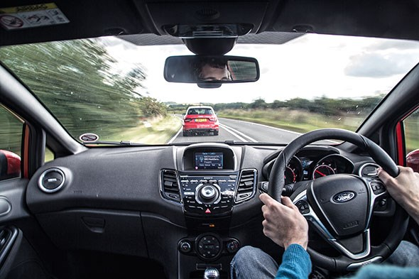 Our Ford Fiesta cabin: onboard, chasing an Audi S1