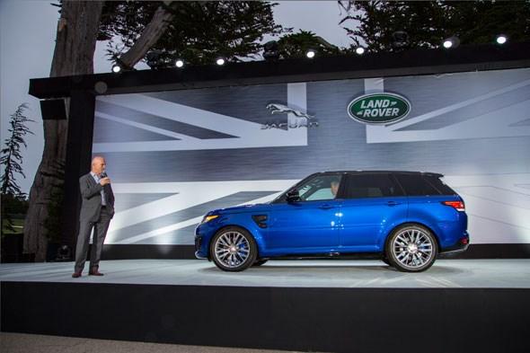New Range Rover SVR at Pebble Beach
