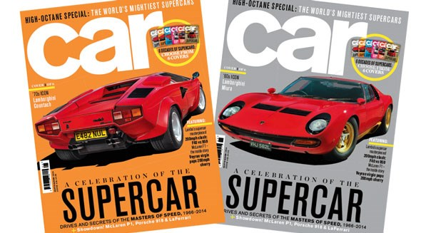 Two of CAR's supercar covers