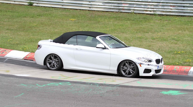 Bmw 228i Convertible >> BMW 2-series Convertible (2015) spied at the Nurburgring ...