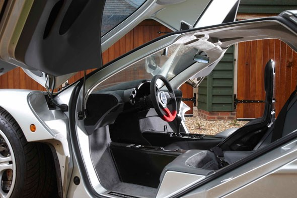The cabin of the McLaren F1. Ready to race?