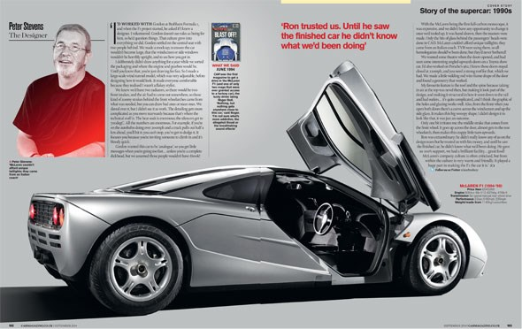 It's part of our supercar special, September 2014 issue of CAR