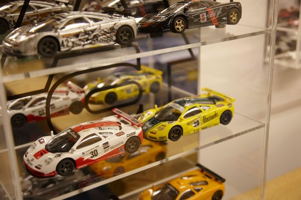 Gordon Murray's collection of toy McLaren F1 models