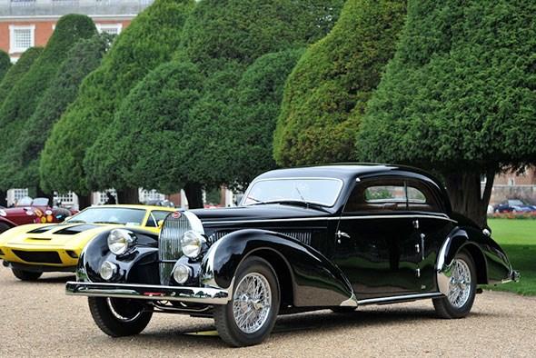 1936 Bugatti T57 Paul Nee Pillarless Coupe
