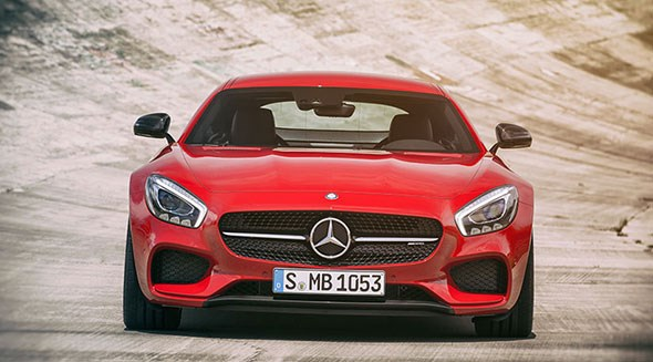 The front of the Mercedes AMG GT: you won't mistake this for anything other than a Merc
