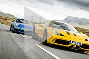 Ferrari 458 Speciale vs Porsche 911 GT3 - a CAR magazine video twin test