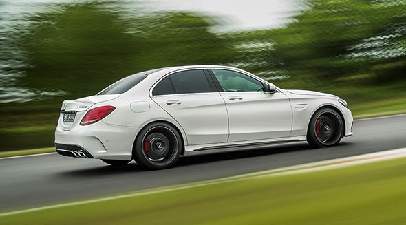 The new Mercedes-AMG C63 saloon in white: ice cool?