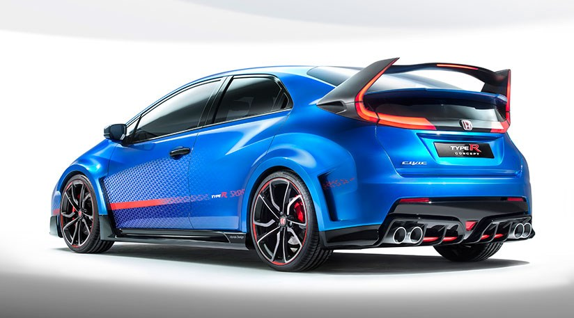 Honda Civic Type R Concept At 2014 Paris Motor Show Car