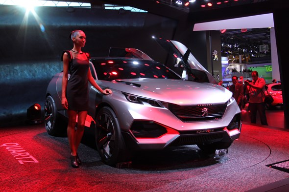 Peugeot Quartz concept at Paris motor show 2014