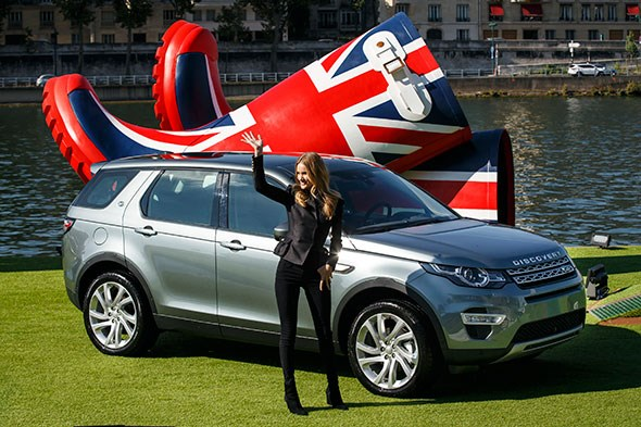 Land Rover hired a celeb to introduce its Discovery Sport on the river Seine