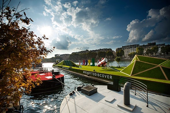 Land Rover hired a boat on the Seine to showcase its new Discovery Sport