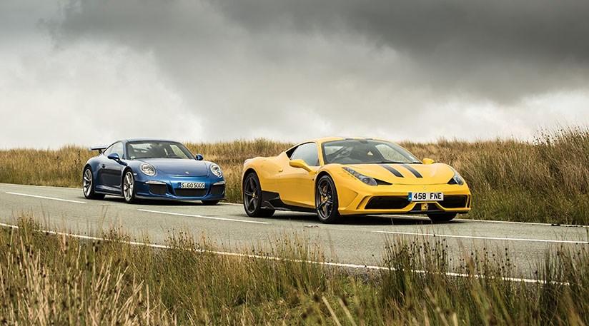 CAR magazine in Wales: Ferrari vs Porsche