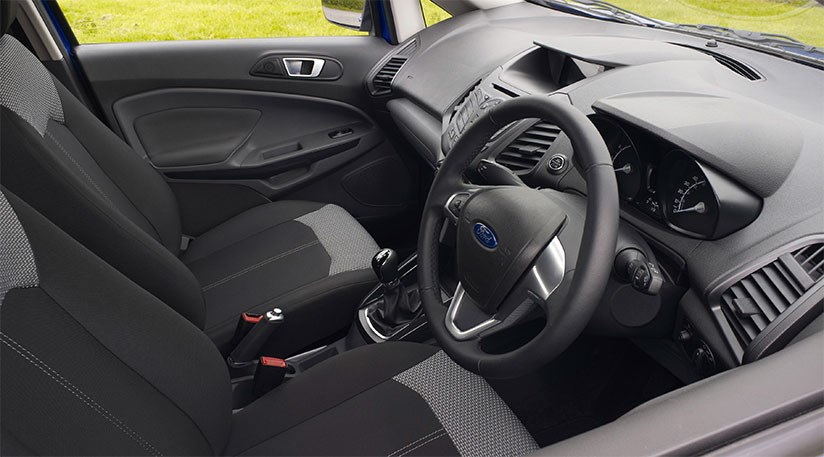 Fiesta Underpinnings More Obvious On The Inside Shame Plastics Arent Up To Job Detail Shot Of Ford Ecosports