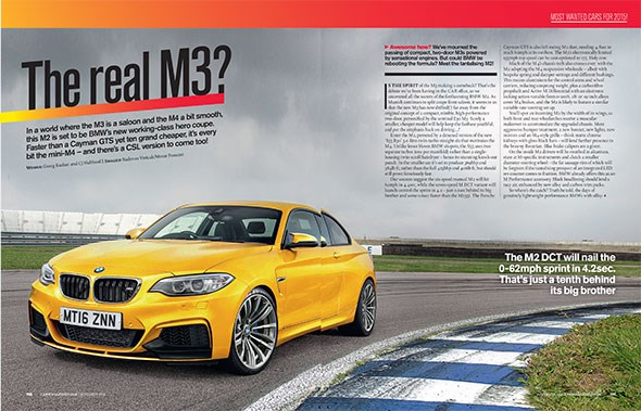 BMW's 2015 M2. CAR magazine's artist's impression, November 2014