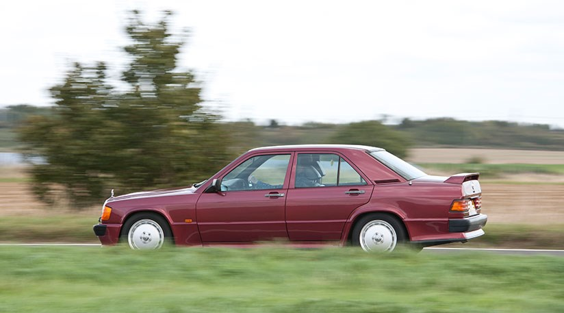 The Mercedes 190 Cosworth 2.5 is a torquey beast; way more relaxed than frantic M3