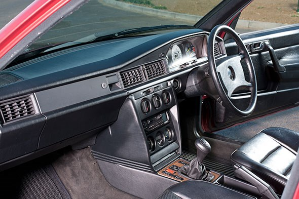 The cabin of the Merc Cossie: more of a luxury affair