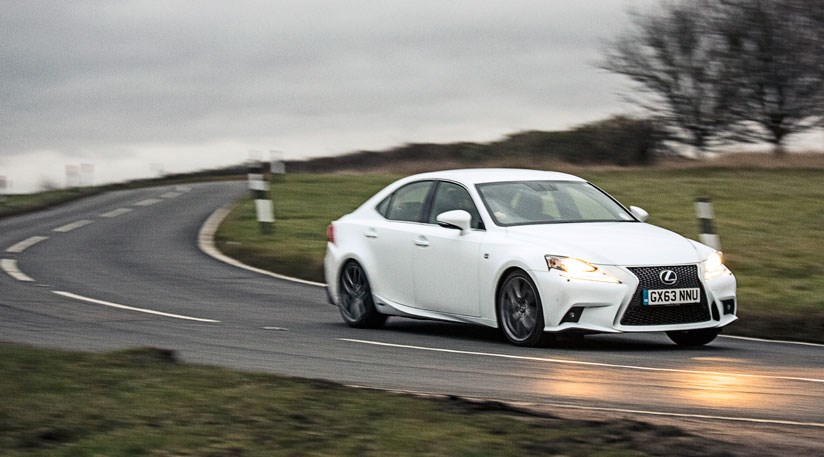On The Open Road Car S Ice White Lexus Is300h Hybrid