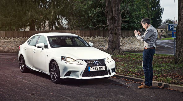 Stephen Worthy, the Lexus IS300h's first keeper, eyes our new hybrid