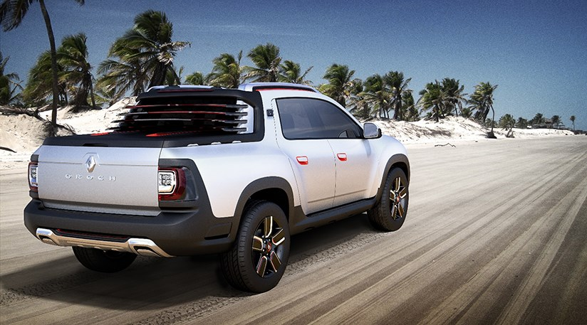 dacia duster oroch pick up truck at 2014 sao paulo show by car magazine. Black Bedroom Furniture Sets. Home Design Ideas