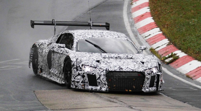 Audi r8 gt3 lms 2015 spied on test at the ring car magazine the new audi r8 gt3 lms racer on test at the nurburgring publicscrutiny Images
