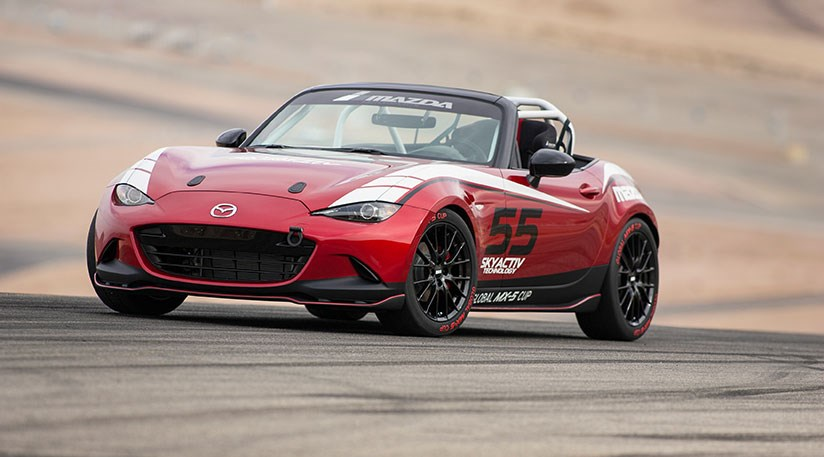 new mazda mx 5 here s the race version by car magazine. Black Bedroom Furniture Sets. Home Design Ideas