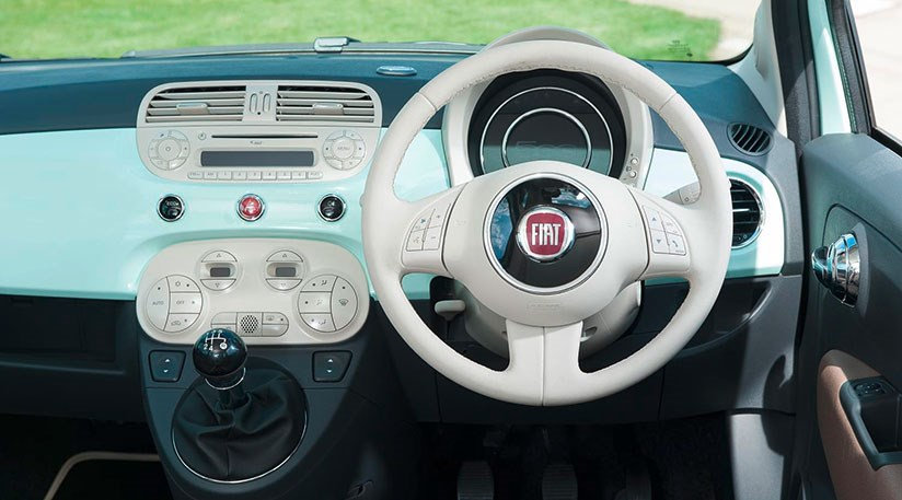 fiat 500 4 door interior. for 2015 a new tft display screen has been added to loftier trim levels in the fiat 500 range 4 door interior
