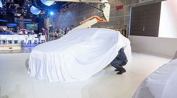 Under the covers: cars under wrap at LA auto show