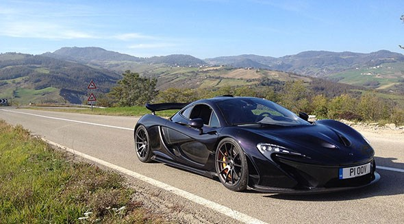 McLaren P1, after driving from Woking to Maranello