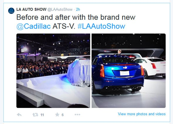 Cadillac ATS-V tweet