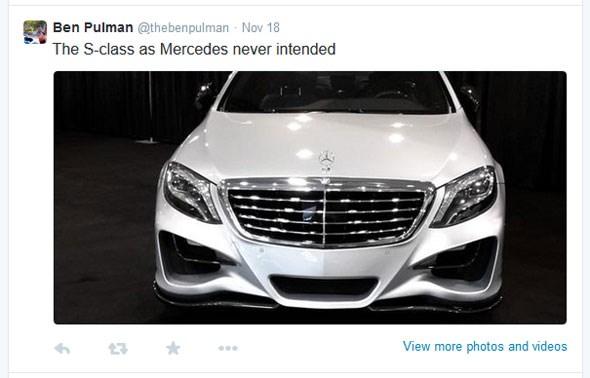 Ben Pulman Mercedes S-Class tweet