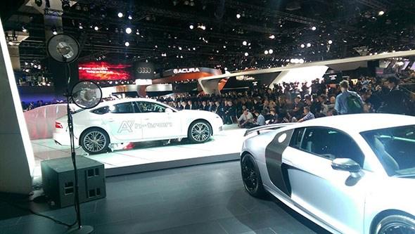 Audi stand at LA auto show 2014