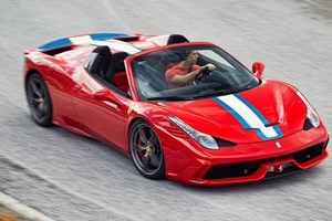 CAR magazine's Ben Barry drives the Ferrari 458 Speciale Aperta. Photograph by John Wycherley