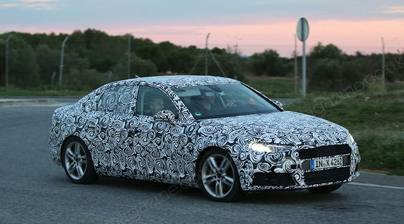audi a4 2015 spy photos of audi s new compact exec saloon by car magazine. Black Bedroom Furniture Sets. Home Design Ideas