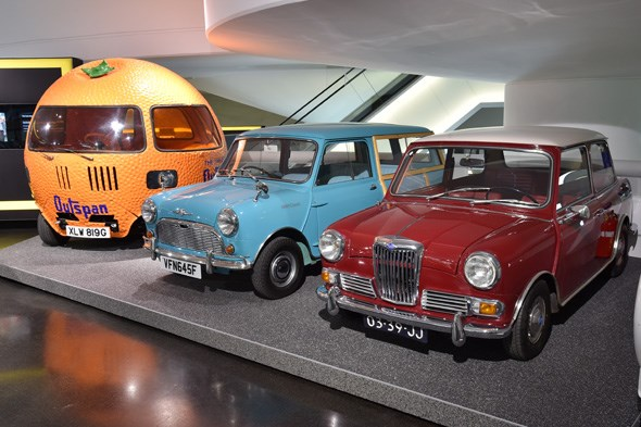 Riley Elf, Mini Traveller and Outspan orange Mini