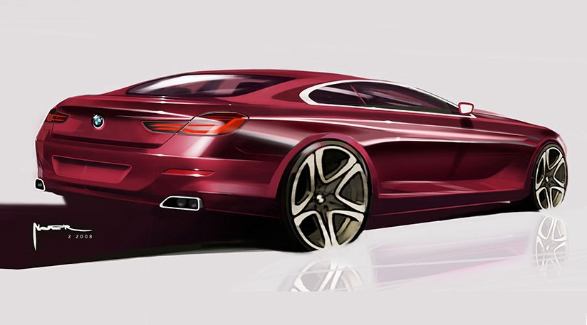 New 2017 Successor The Official Bmw 6 Series Design Sketch For Today S Car