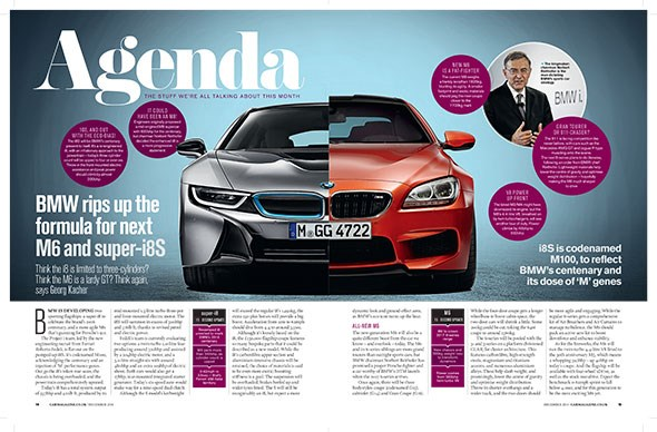 CAR magazine, December 2014, reveals plans for the new BMW 6-series range - and the more powerful i8S