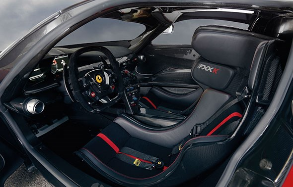 The LaFerrari FXX K cabin: a pretty serious office!