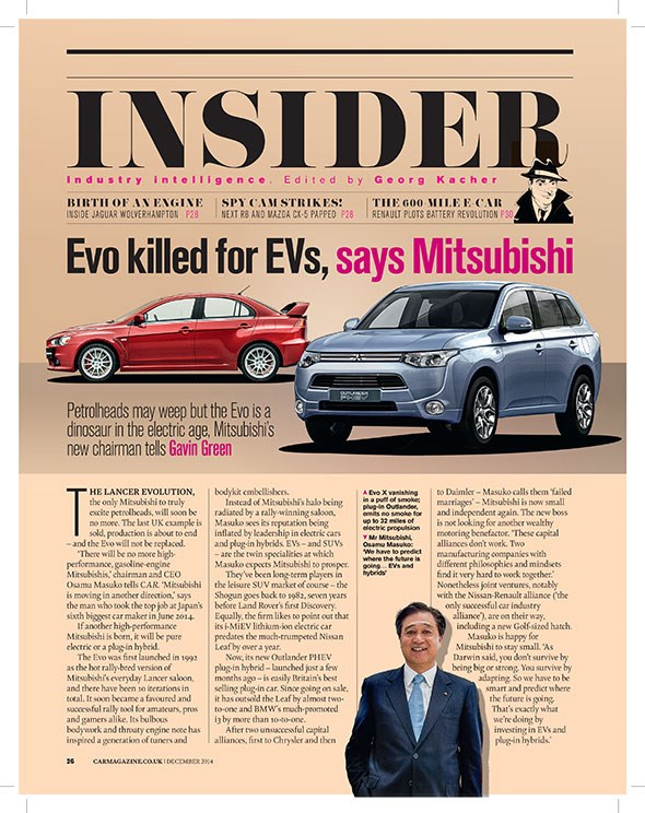 CAR magazine's famous Insider section: the full interview with Mitsubishi CEO Osamu Masuko