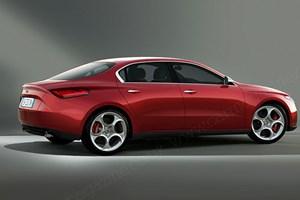 CAR magazine's artist's impression of the new 2015 Alfa Romeo Giulia, by R.Varicak/Motor Forecast