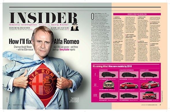 The Alfa Romeo renaissance is detailed in the new January 2015 issue of CAR magazine