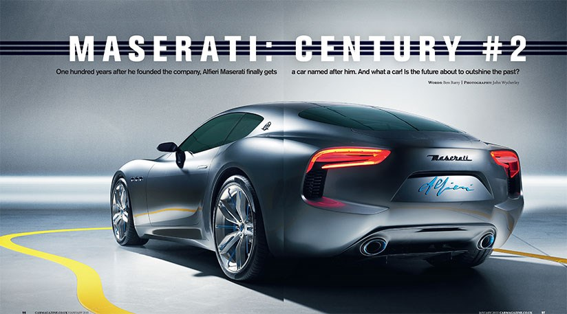 The Maserati Alfieri Concept Car, Photographed Exclusively For CAR  Magazine, January 2015, By John Wycherley ...