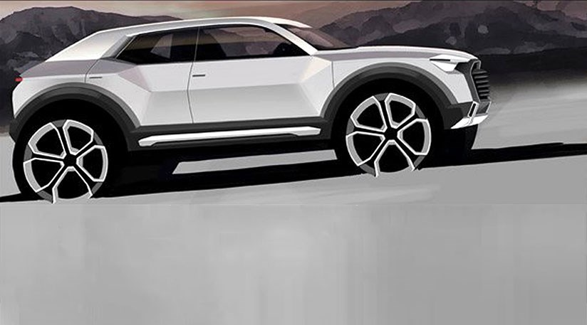 The New Audi Q1 Revealed In Official Ingolstadt Design Sketch