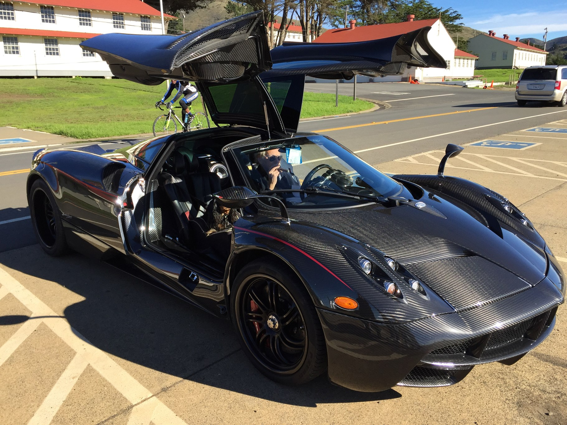 CAR reader spots the coolest ever Pagani Huayra driver! | CAR Magazine