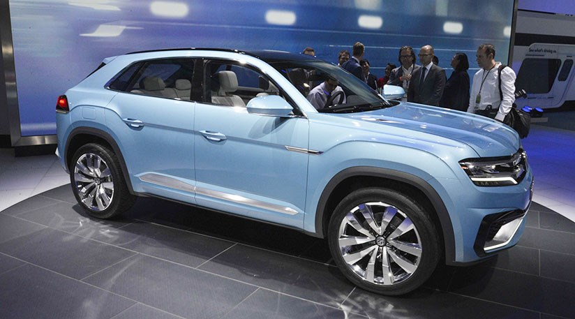 vw cross coupe gte crossover at 2015 detroit show by car magazine. Black Bedroom Furniture Sets. Home Design Ideas