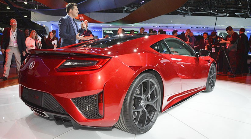 Honda Nsx 2016 Acura S Hybrid Sports Car At Detroit