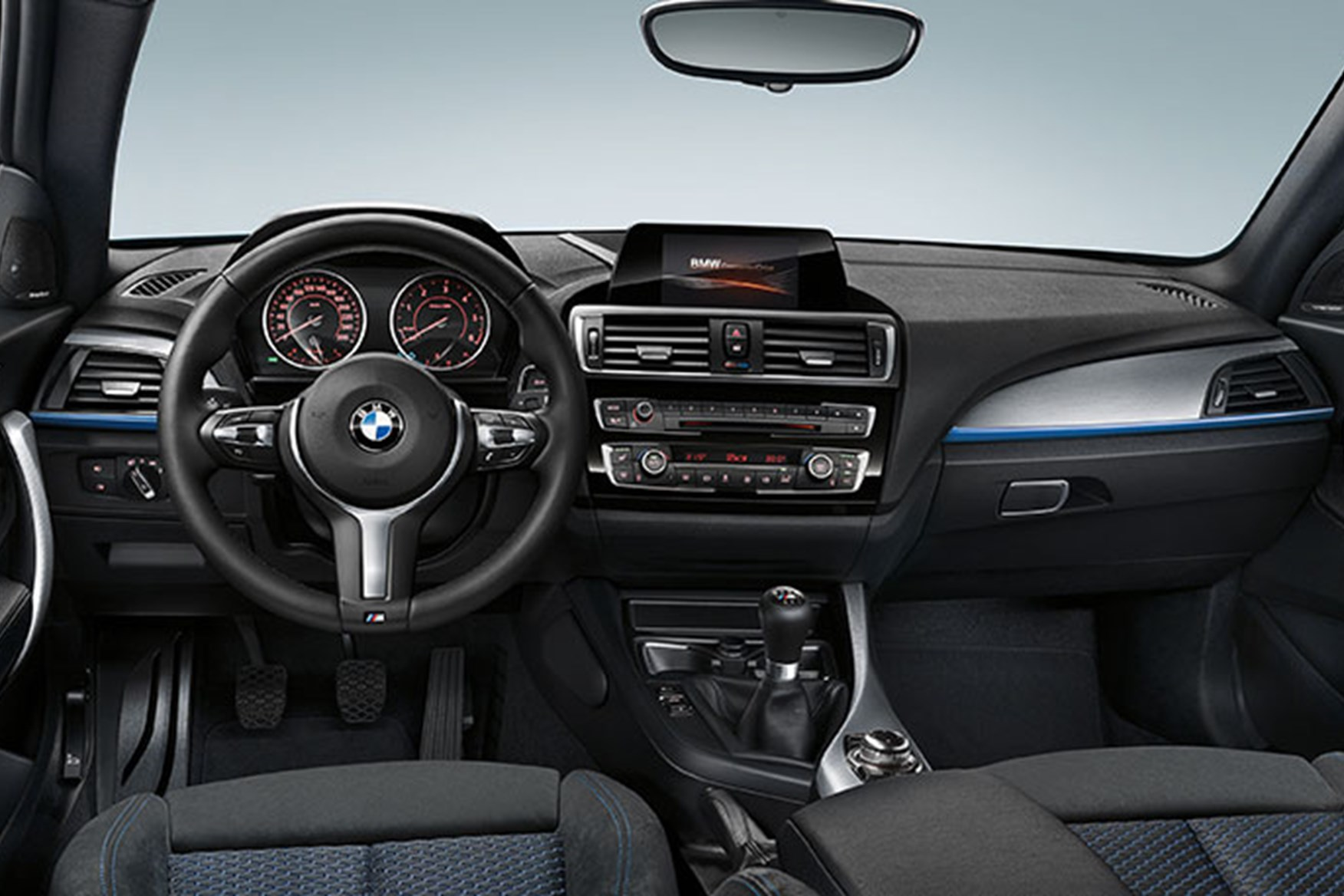 ... Inside Tidied Up Cabin Of New 2015 BMW 1 Series Hatch ...