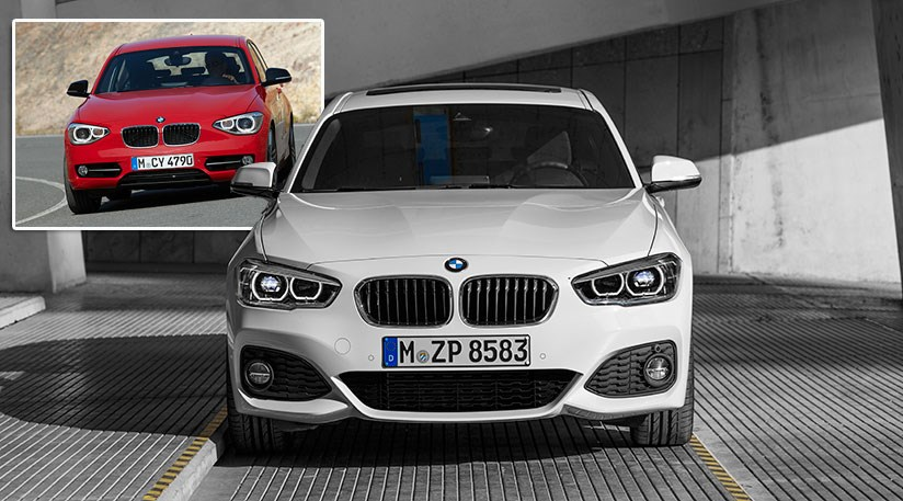 Attrayant The New 2015 BMW 1 Series (inset The Outgoing 2014 Model) ...