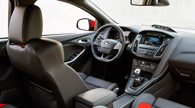 cabin of the 2015 ford focus st a much smarter affair